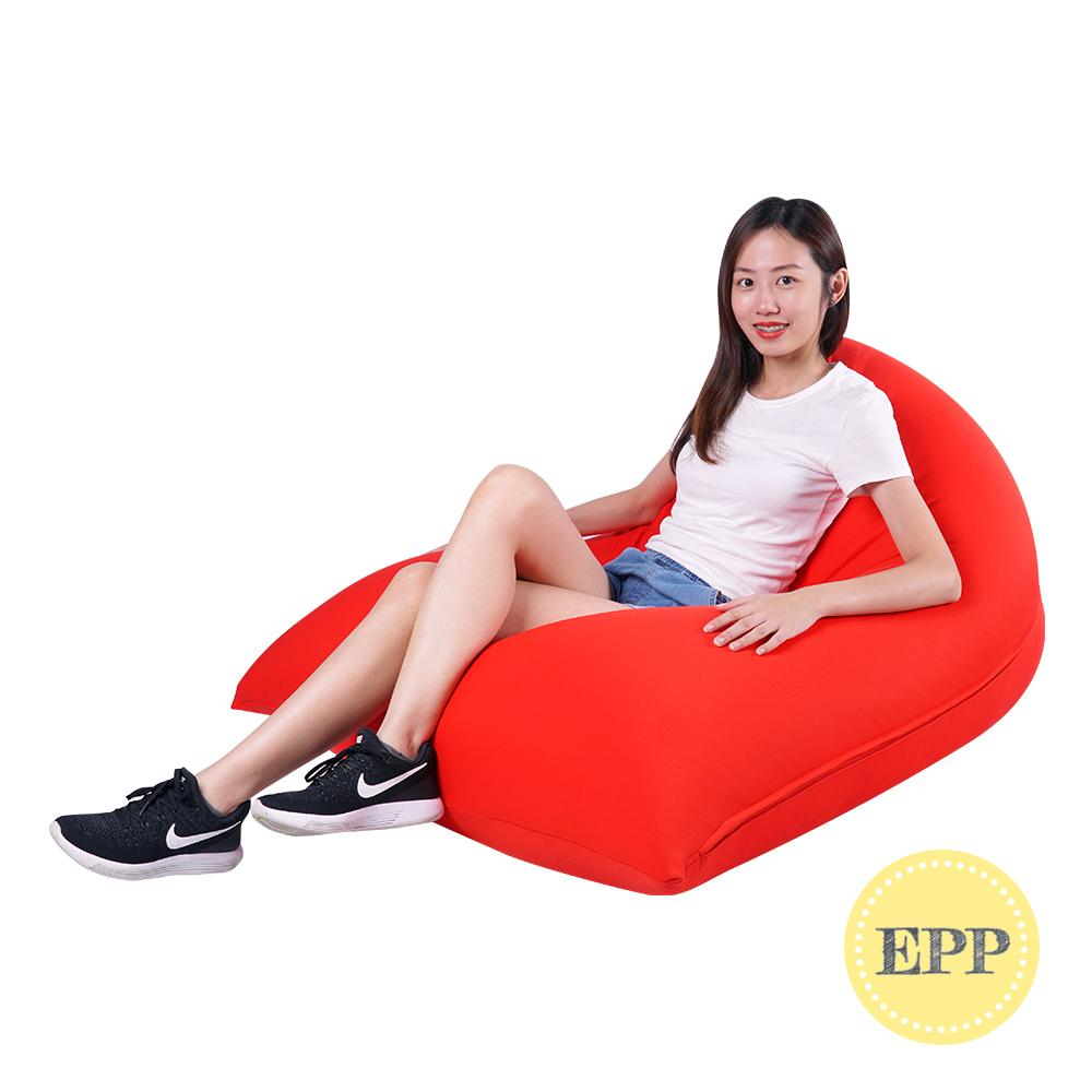 Tetzzz Spandex Lounger Bean Bag by SG Beans (EPP beans filling)