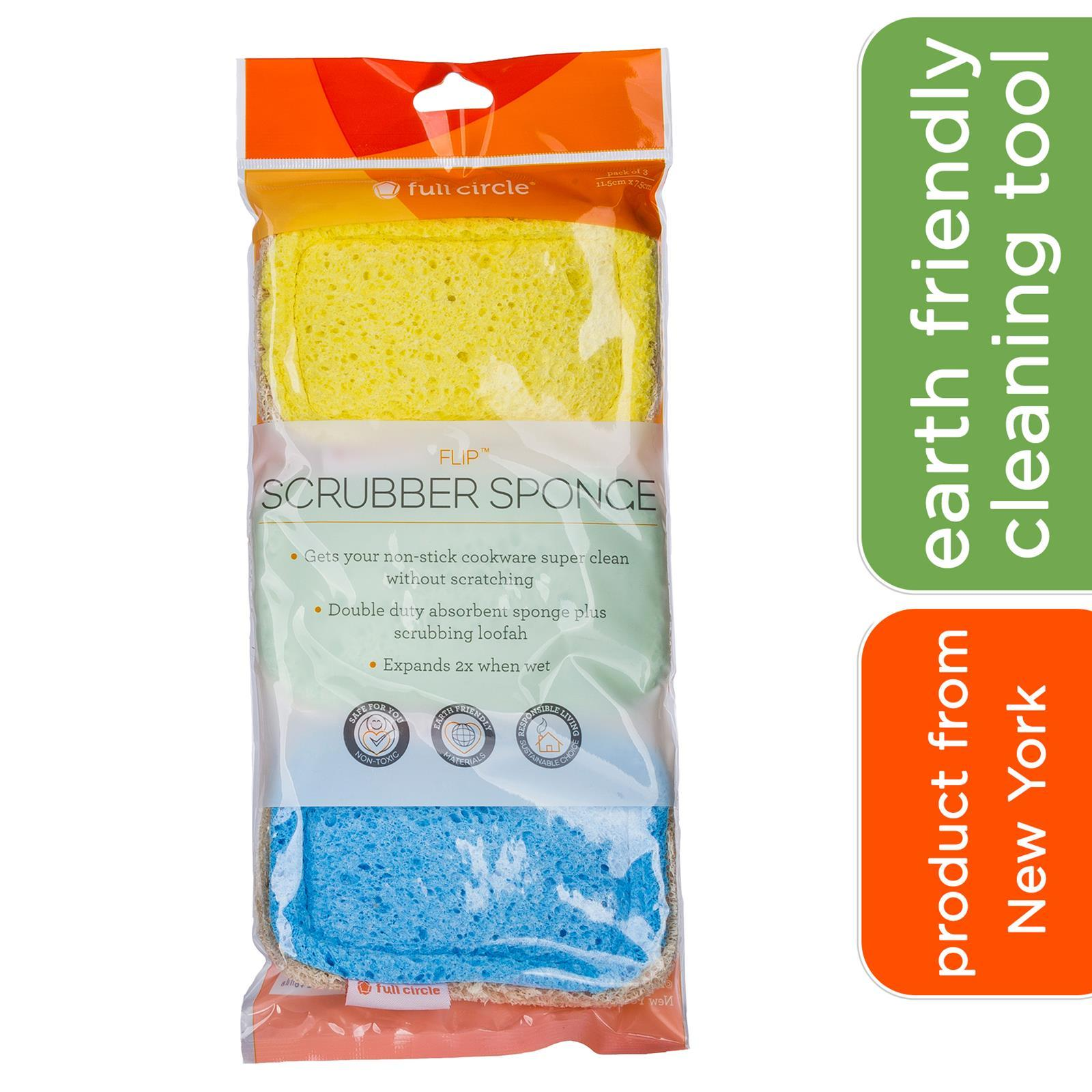 Full Circle Refresh Scrubber Sponge (set Of 3pcs) By Corlison.
