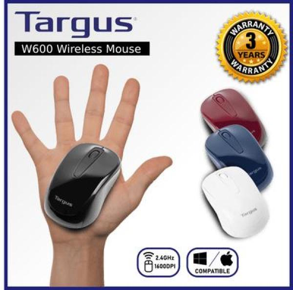Targus W600  Wireless Optical Mouse - Black Deep Blue Red White  W 600 (replacement model of W571) cordless