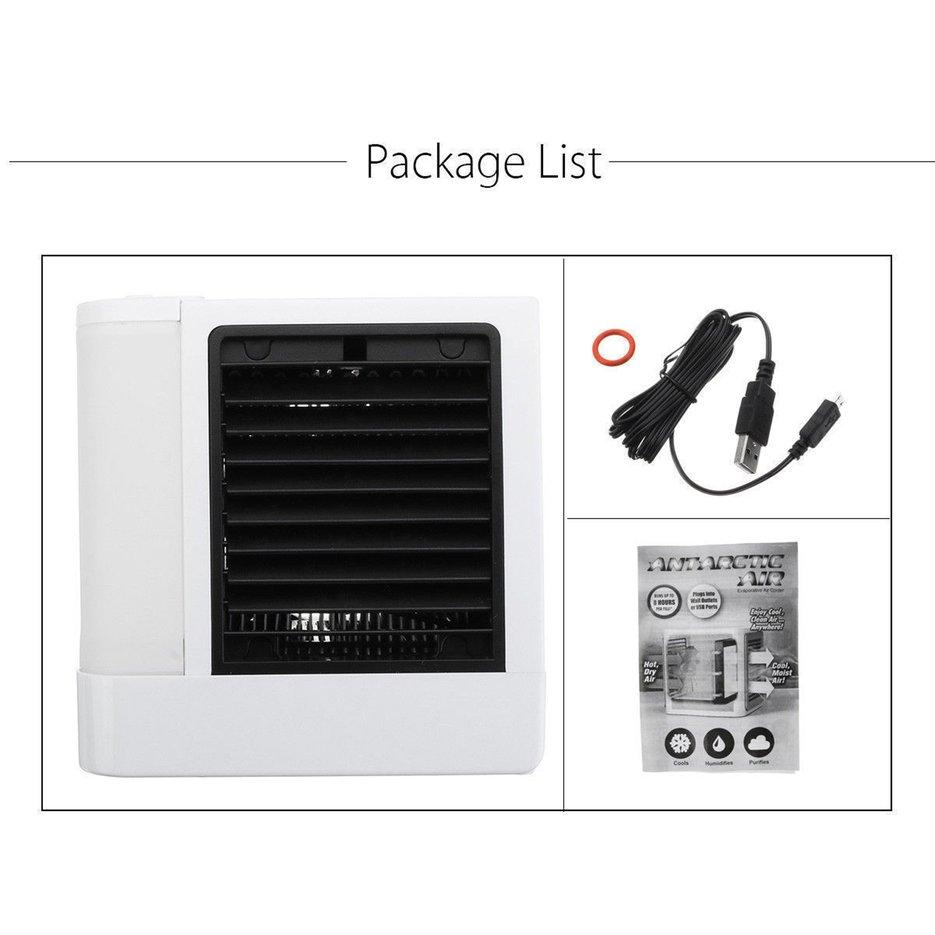 E-ERA Mini Air Conditioner Cooler with 7 Colors LED Lights Air Humidifier Purifier