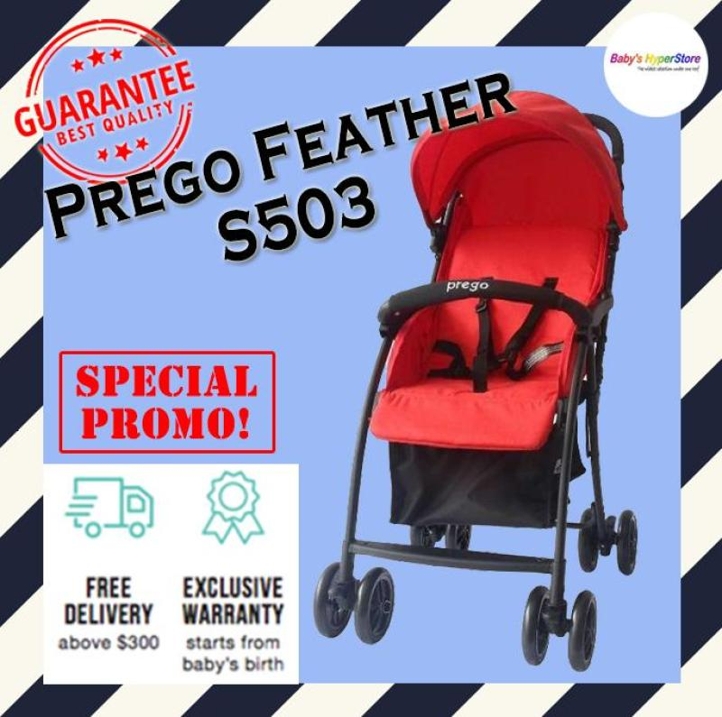 Prego Feather S503 Stroller - As light as feather from 3.7kg only!!! LOCAL seller warranty Singapore