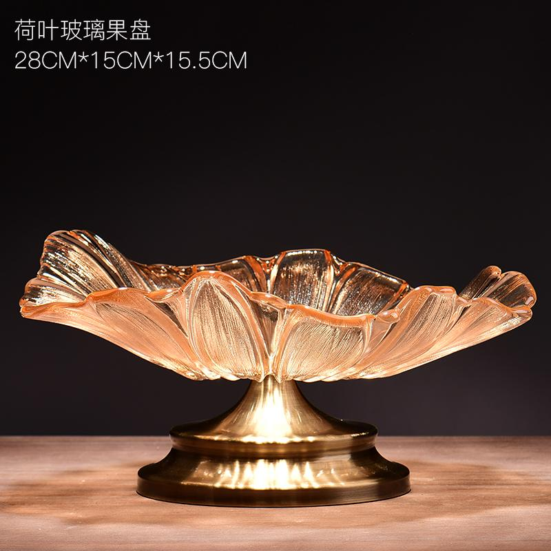 Metal European basket fruit crystal fruit bowl