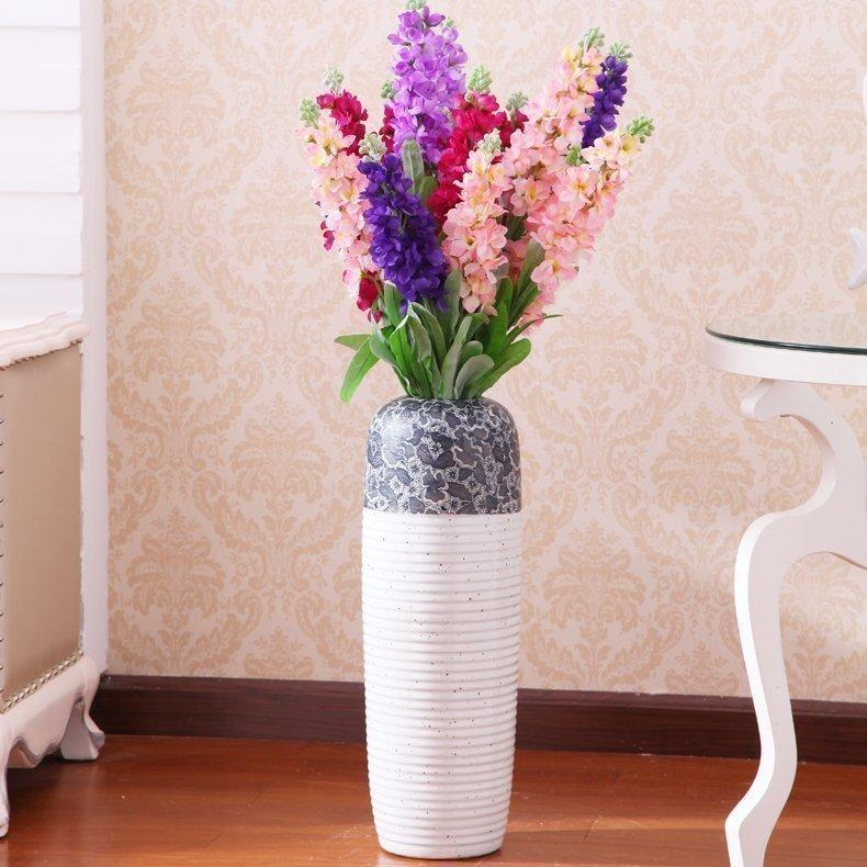 European Style Art Ceramic Large Floor Vase Jingdezhen Modern Minimalist Living Room Soft Loading Decoration Modern Minimalist