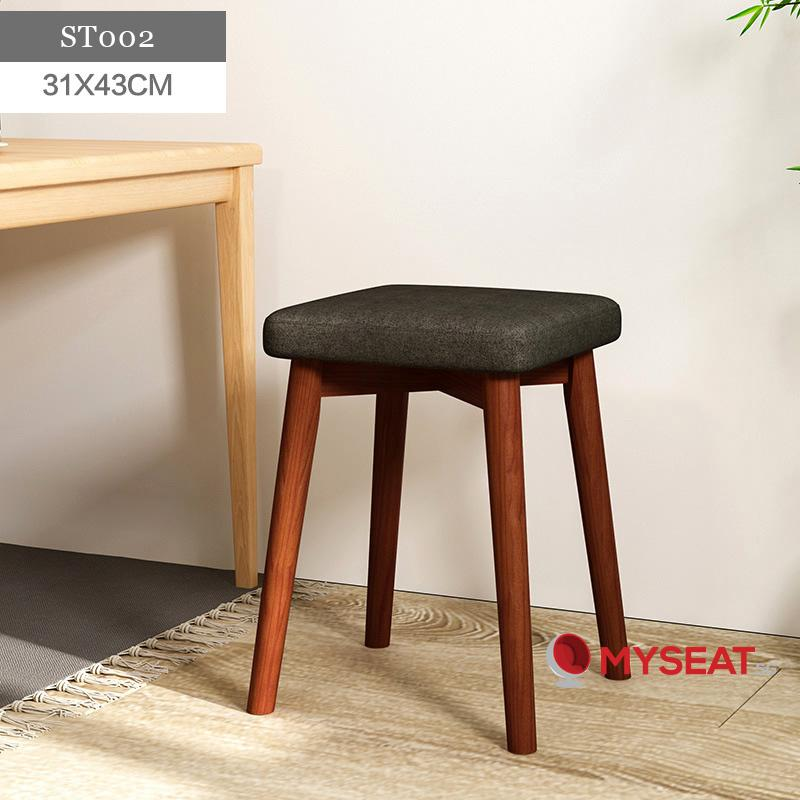 MYSEAT.sg Scandinavian Wooden Stool