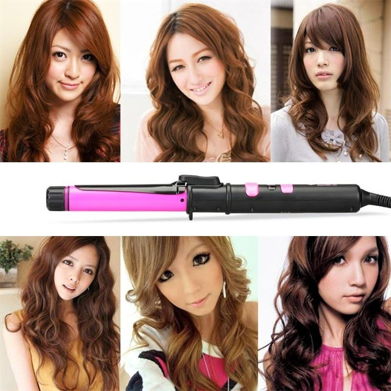 Personal Care Appliances Curling Irons 2019 New Arrival Black Ceramic Gold Golden 9mm Electric Hair Styler Curls Professional Hair Wand Curling Iron For Tight Curls