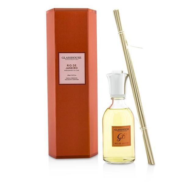 Buy Glasshouse Triple Strength Fragrance Diffuser - Rio De Janeiro .Passionfruit   Lime. 250ml/8.45oz Singapore