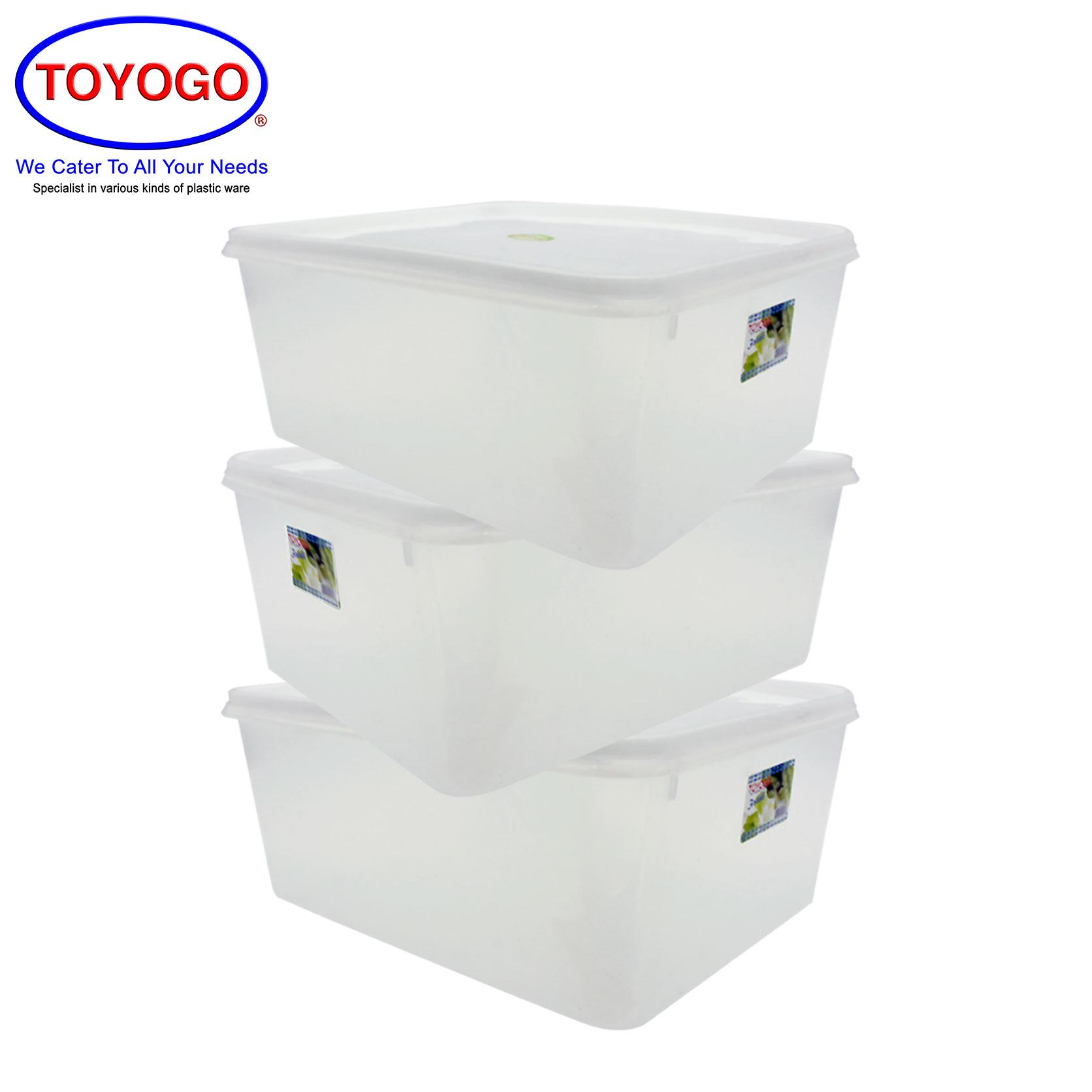 Toyogo Rectangular Box (Bundle of 3) (2181)