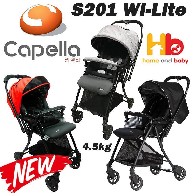 Capella S201 Wi-Lite™ Stroller Red Black Grey Singapore