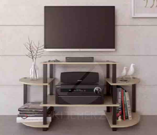 FLEXIPOLE ENTERTAINMENT TV RACK (Walnut)