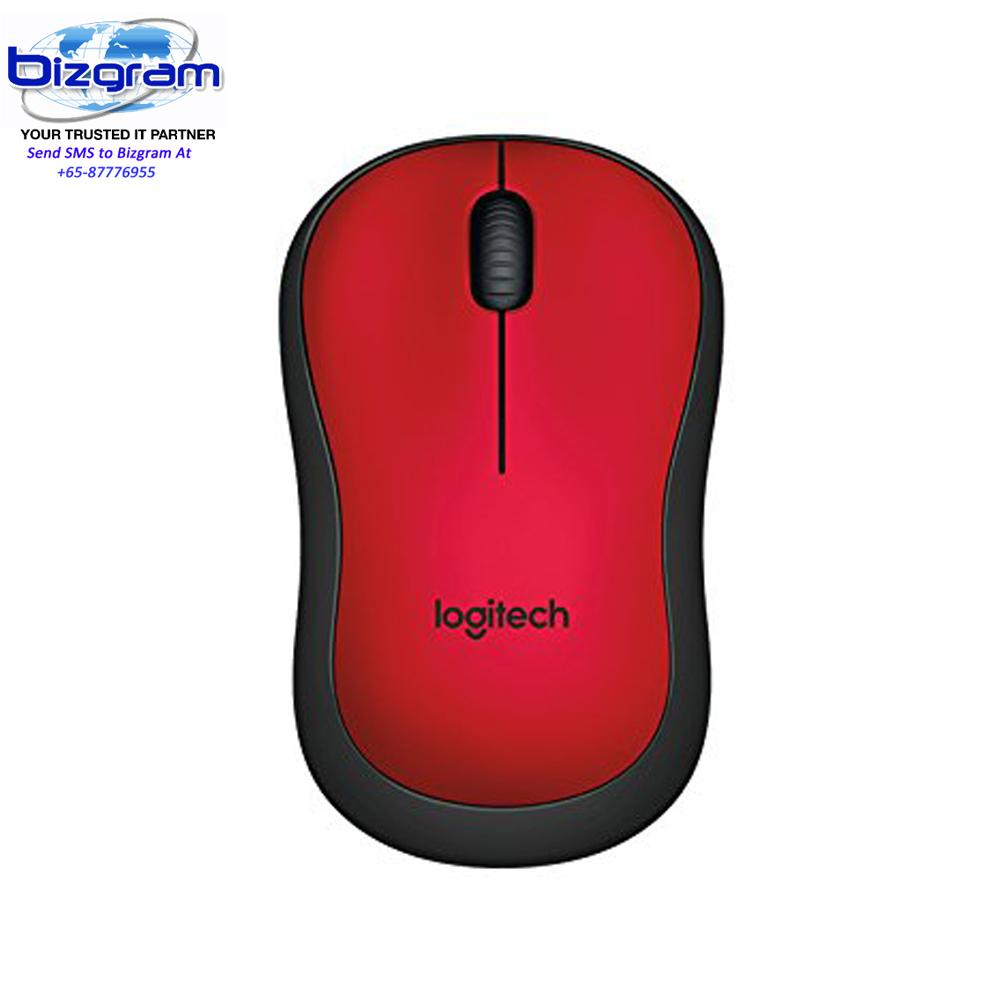 Logitech M221 Silent Wireless Mouse - Red 910-004884
