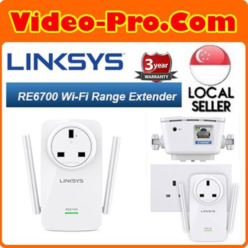 Buy Linksys RE6700 Dual Band Wireless AC1200 MAX Wi-Fi Range Extender 2 4  GHz and 5 GHz Singapore