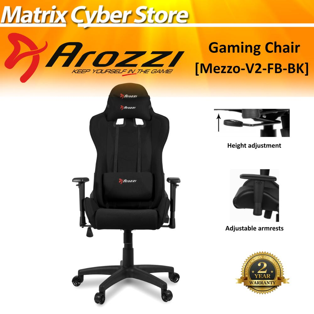 Arozzi Mezzo V2 Gaming Chair, Material Woven Fabric [Free Delivery & Free Installation]
