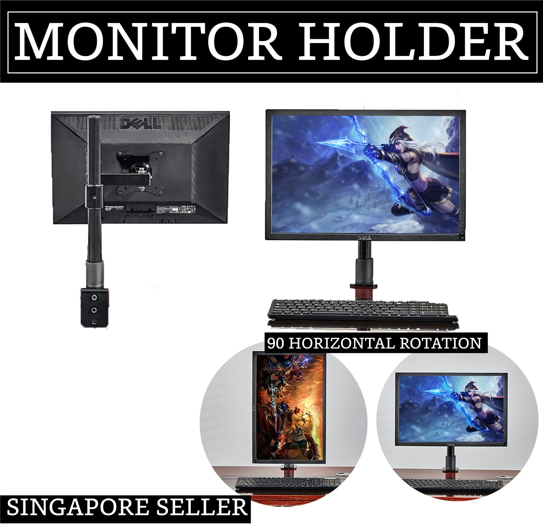 Computer LCD screen monitor bracket (Table Clip Type 32 Thick Tube 40 High Belt Extension Arm Black)