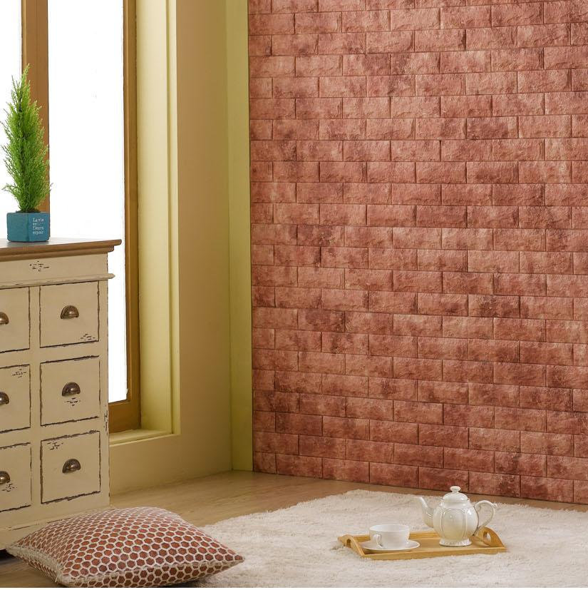 Bakuta Foam Brick Sticker Wall Sticker White / Ivory / Pink / Green / Yellow / Grey / Red