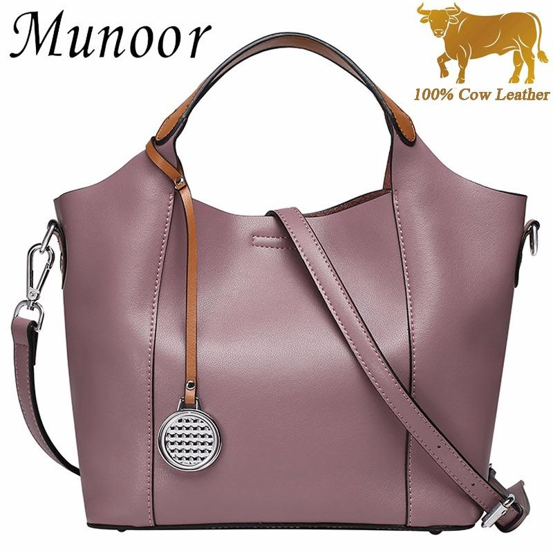 The Cheapest Munoor Women Tote Bags 100 Genuine Cow Leather Elegant Shoulder Bags Fashionable Handbags Online