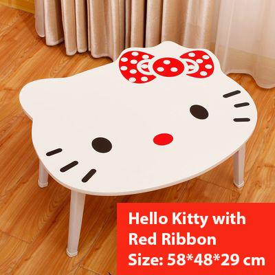 Hello Kitty with Red Ribbon Coffee Foldable Folding Computer Table