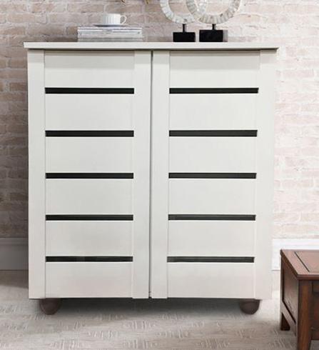 [A-STAR]  wooden 2 Door Shoe Cabinet(white)