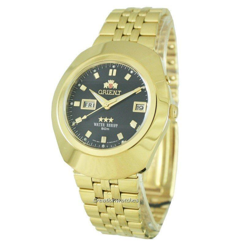 List Price Orient 3 Stars Men S Gold Stainless Steel Bracelet Watch Em70001B Orient