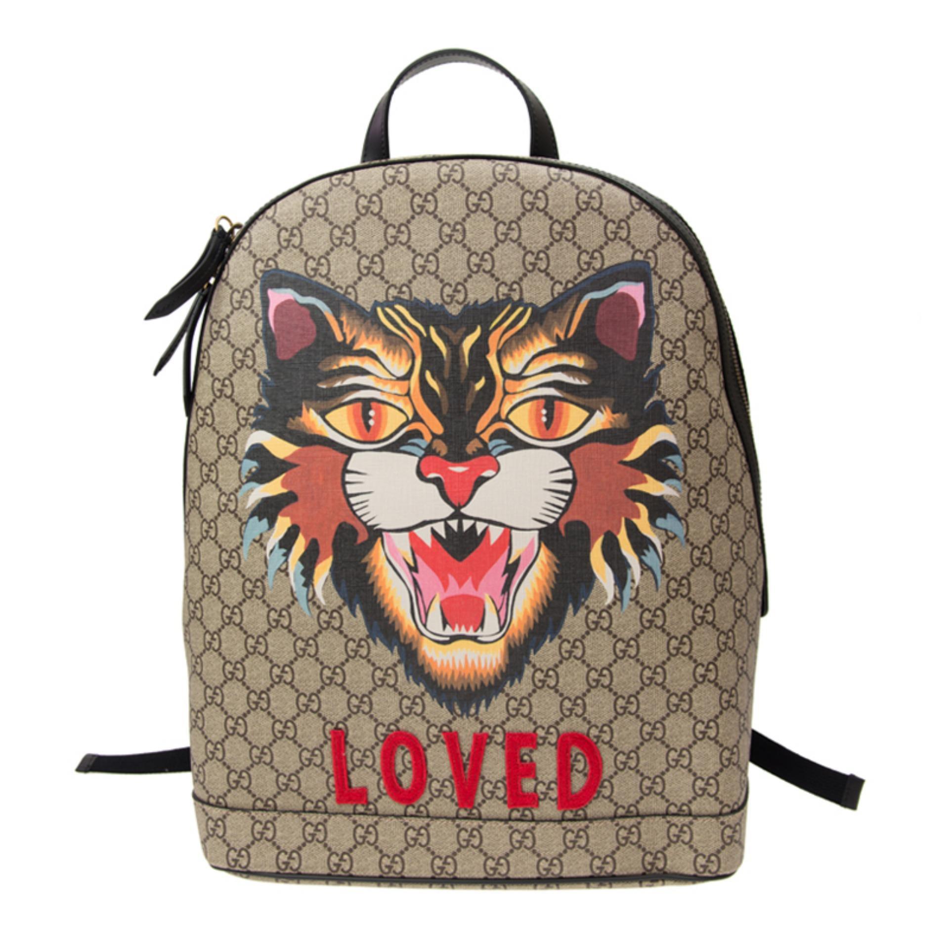 17f8d59fa188 Gucci Angry Cat Print GG Supreme Backpack (Prints) # 4195849AX1T8652
