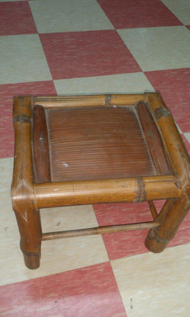 Vintage Bamboo Stool - Clearance