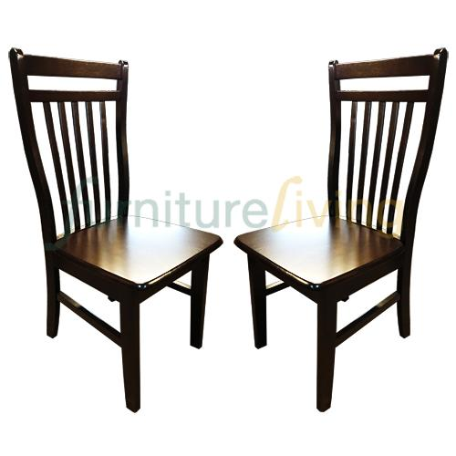Furniture Living Solid Wood Dining Chair (Walnut) Bundle Deal