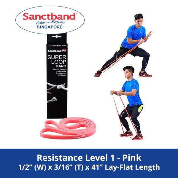 Deals For Sanctband Active Super Loop Band Resistance Level 1 Pink