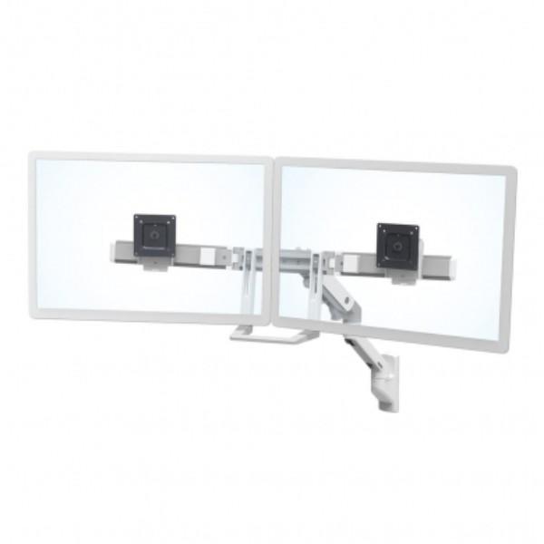 Ergotron HX Wall Dual Monitor Arm, White