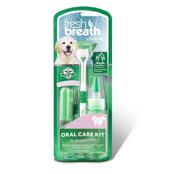 Tropiclean Fresh Breath Puppy Oral Care Kit By Singpet.