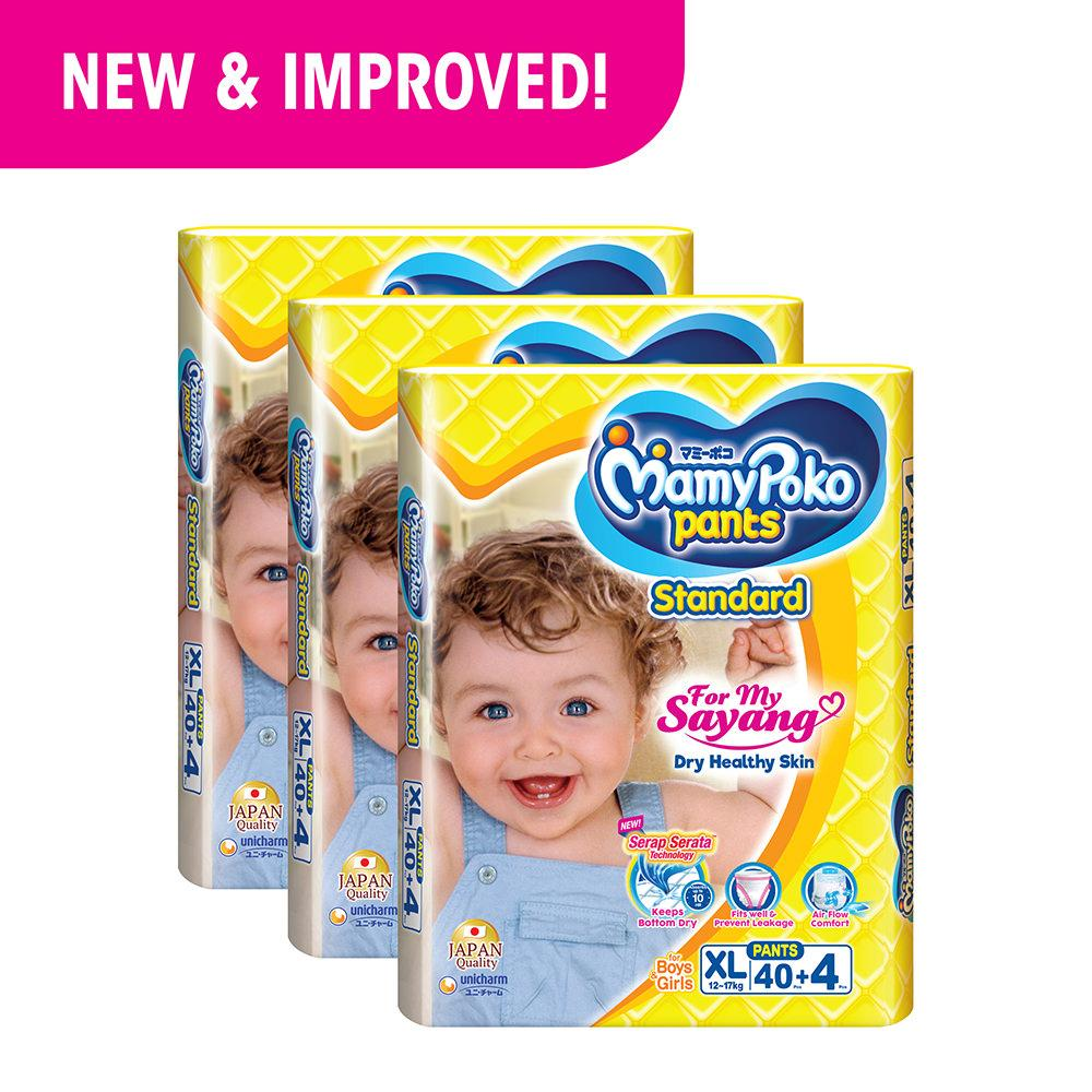 Review Mamypoko Pants Standard Xl40 4 3 Pack On Singapore