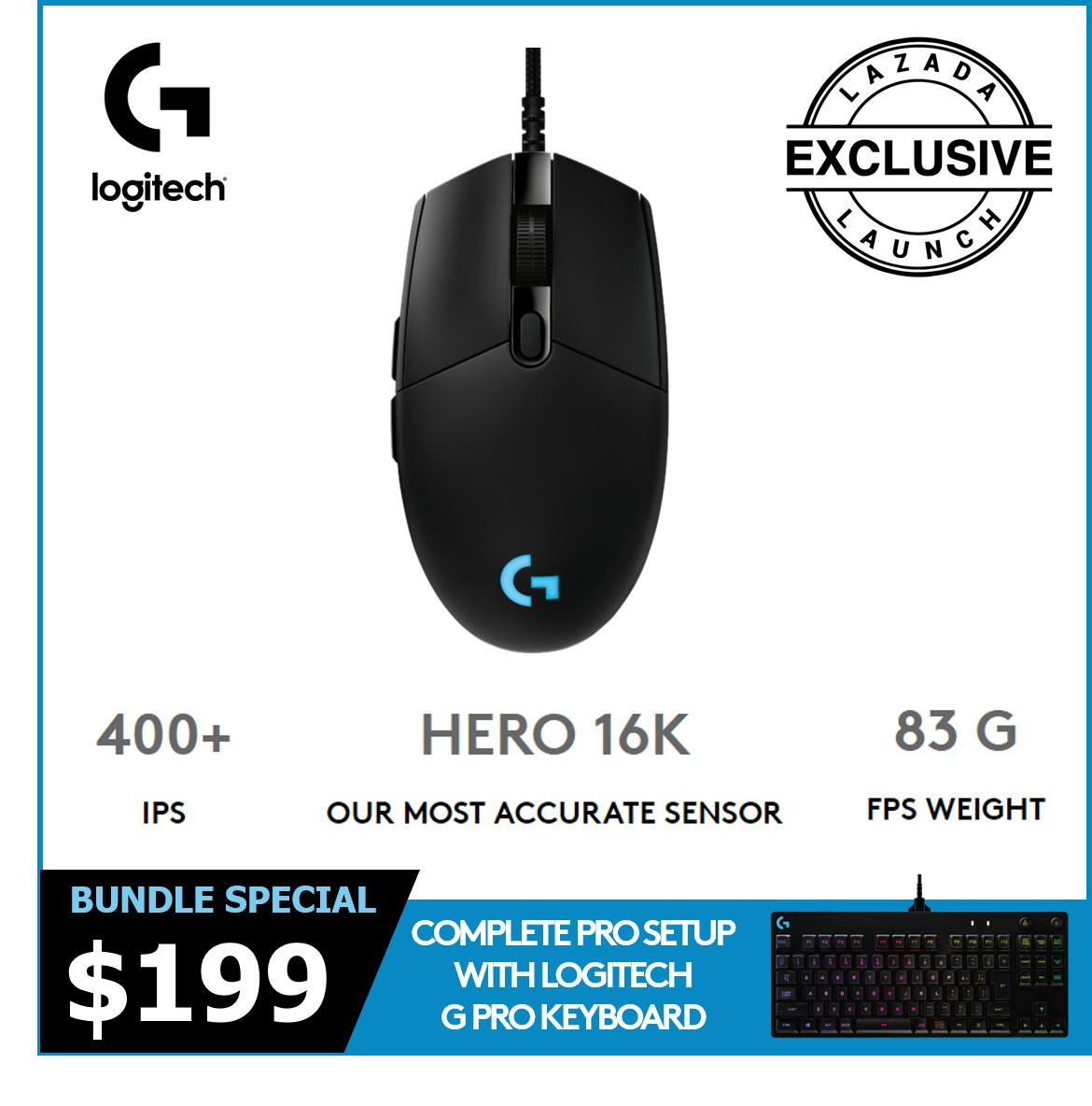 [Launch Special] Logitech G Pro HERO Wired Mouse + Keyboard Singapore
