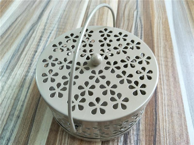 Iron Hollow Mosquito Coils Box Moskito Killer Pest Repeller Mosquito Coils Holder Case with Cover