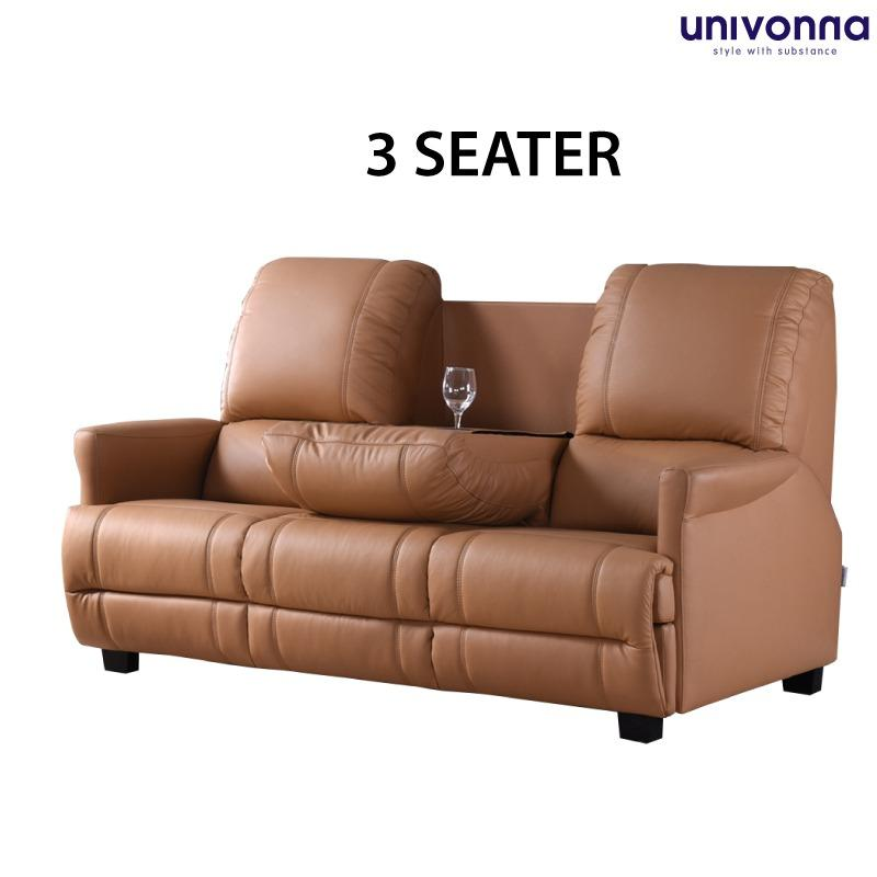 3 Seater Sofa - Javier - PU Leather - Color Choice