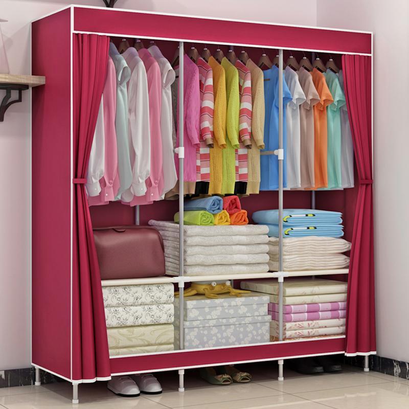 MWT1 Large Size Cloth Wardrobe Simple Wardrobe Thick Fabric Folding bu yi chu