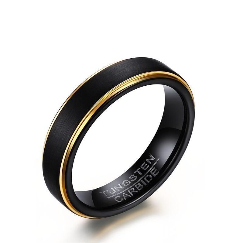 Discount Kemstone Fashion 5Mm Stainless Steel Ring Phnom Penh Black Tungsten Steel Ring Men Sz 6 To 12 Intl