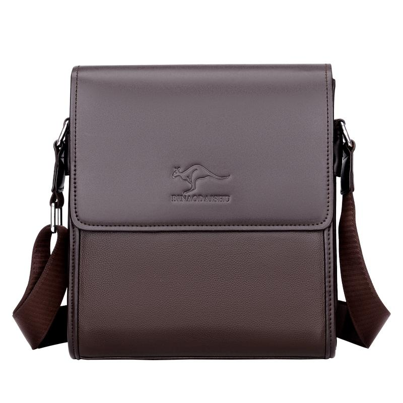 Versatile Mens Bag Verticle Leather Business Briefcase Men Casual Shoulder Bag Male Small Backpack Youth