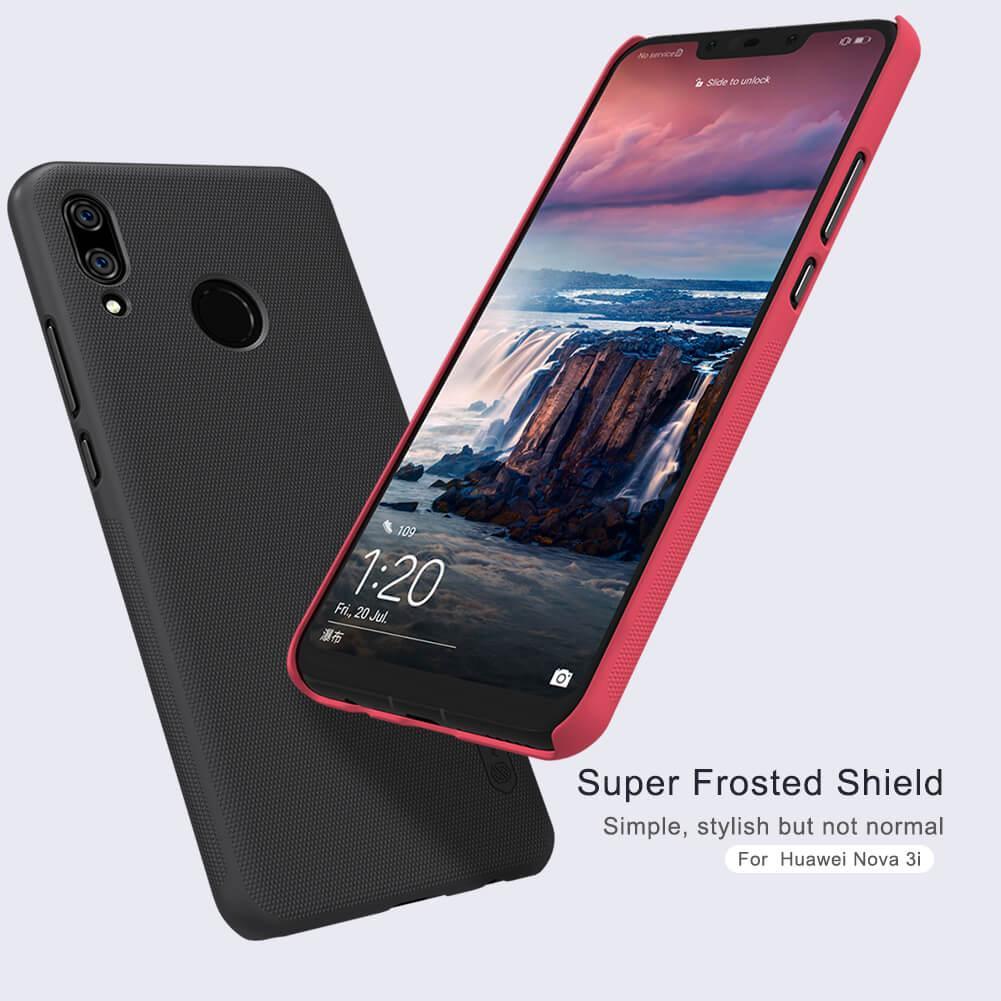 Huawei Nova 3i Nillkin Frosted Shield Case (Black/Red/Rose Gold) -