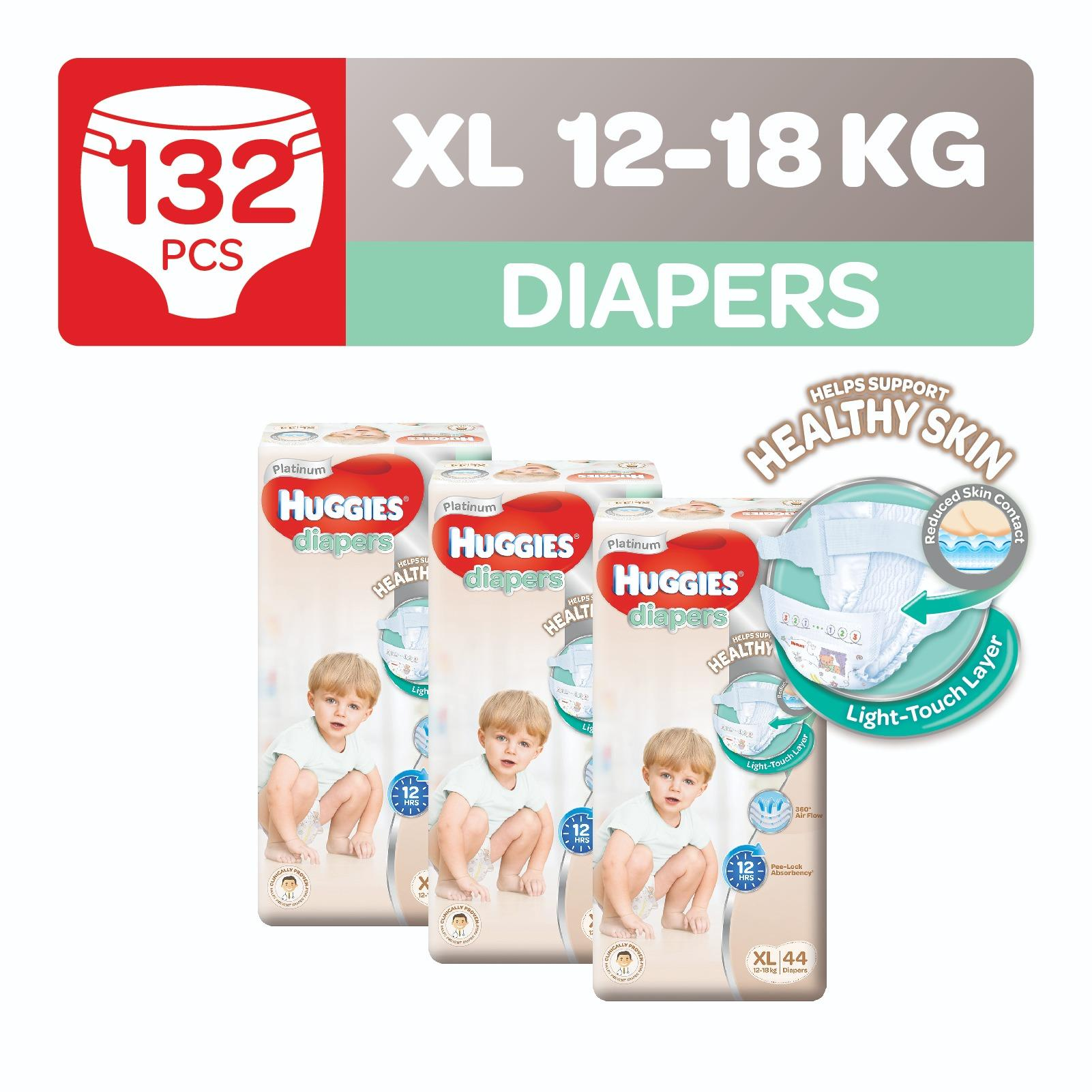 Compare Price Huggies Platinum Diapers Xl 44Pcs X 3 Packs Huggies On Singapore