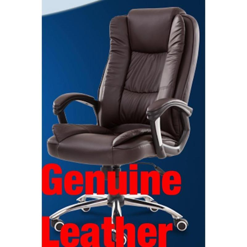 UMD Genuine Leather Ergonomic Director Chair Boss Chair 338 Singapore