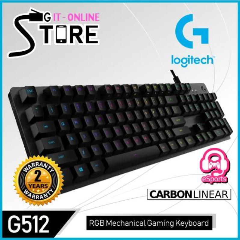Logitech G512 Carbon Linear RBG Gaming Mechanical Keyboard Singapore