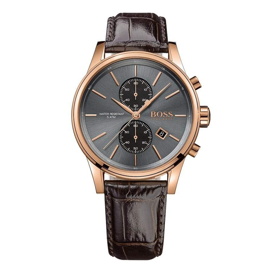 Hugo Boss Gents Brown Leather Strap Watch 41mm Hb1513281 By Watch Centre.