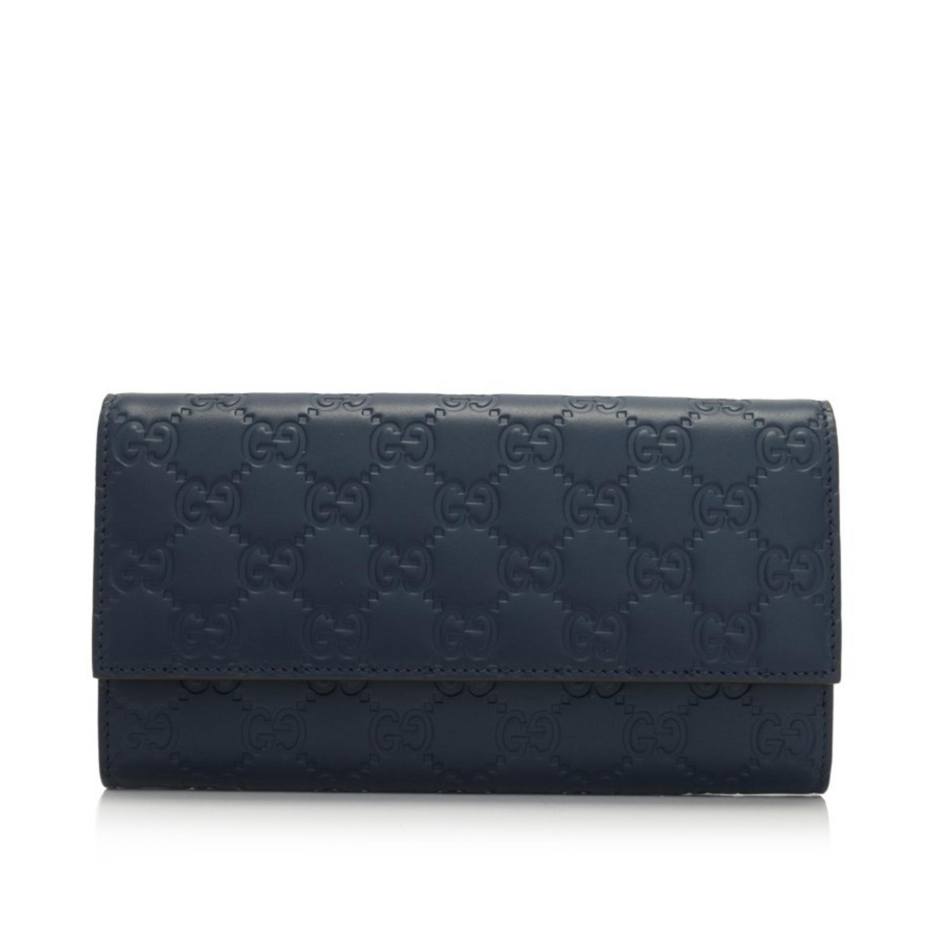 c8ee47ced89 Gucci Signature Continental Wallet (Dark Blue)   410100CWC1G4157