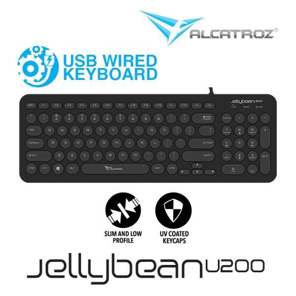 Alcatroz USB Wired keyboard JellyBean U200