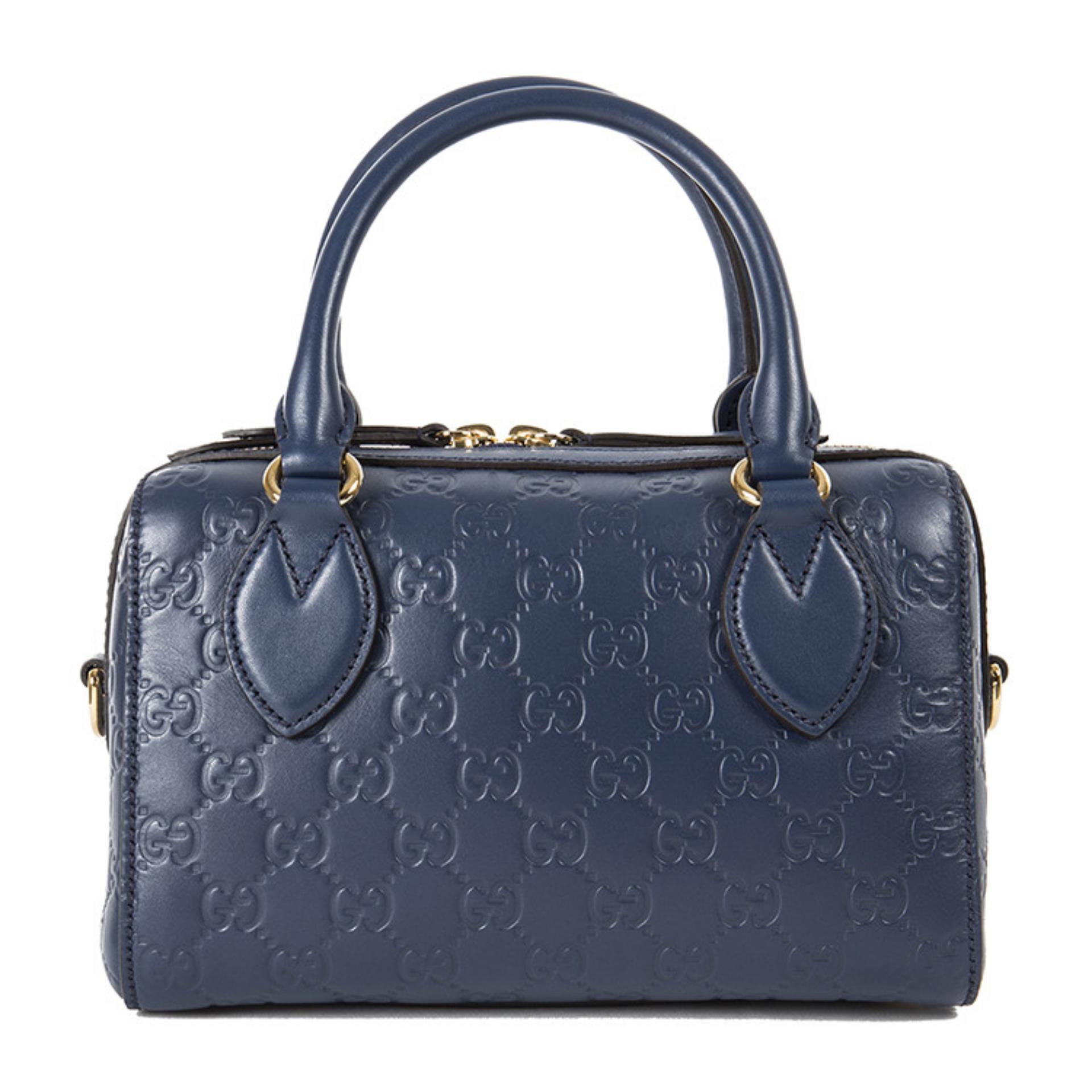 63ac25a05bb Gucci Signature Small Top Handle Bag (Blue)   475842DMT1G4157