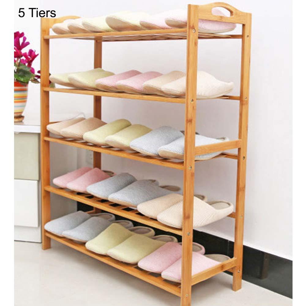 JIJI Bamboo Shoe Rack (Minimalistic) - Shoe Racks / Shoe Organizers / Storage Organization (SG)