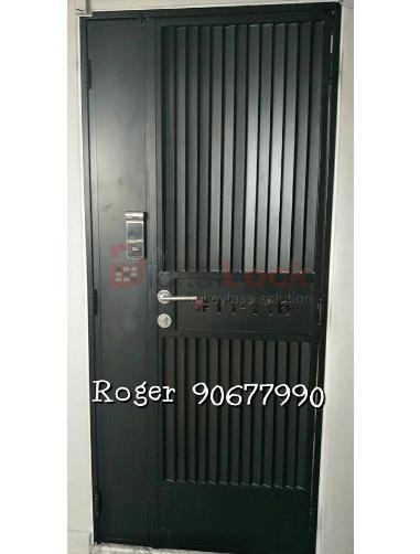 VIP DESIGN 4 WITH LASER CUT UNIT NUMBER MILD STEEL HDB GATE (3 x 7)