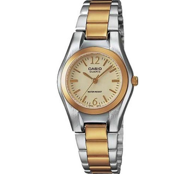 Casio Women S Silver Gold Stainless Steel Strap Watches Ltp 1253Sg 9A Sale