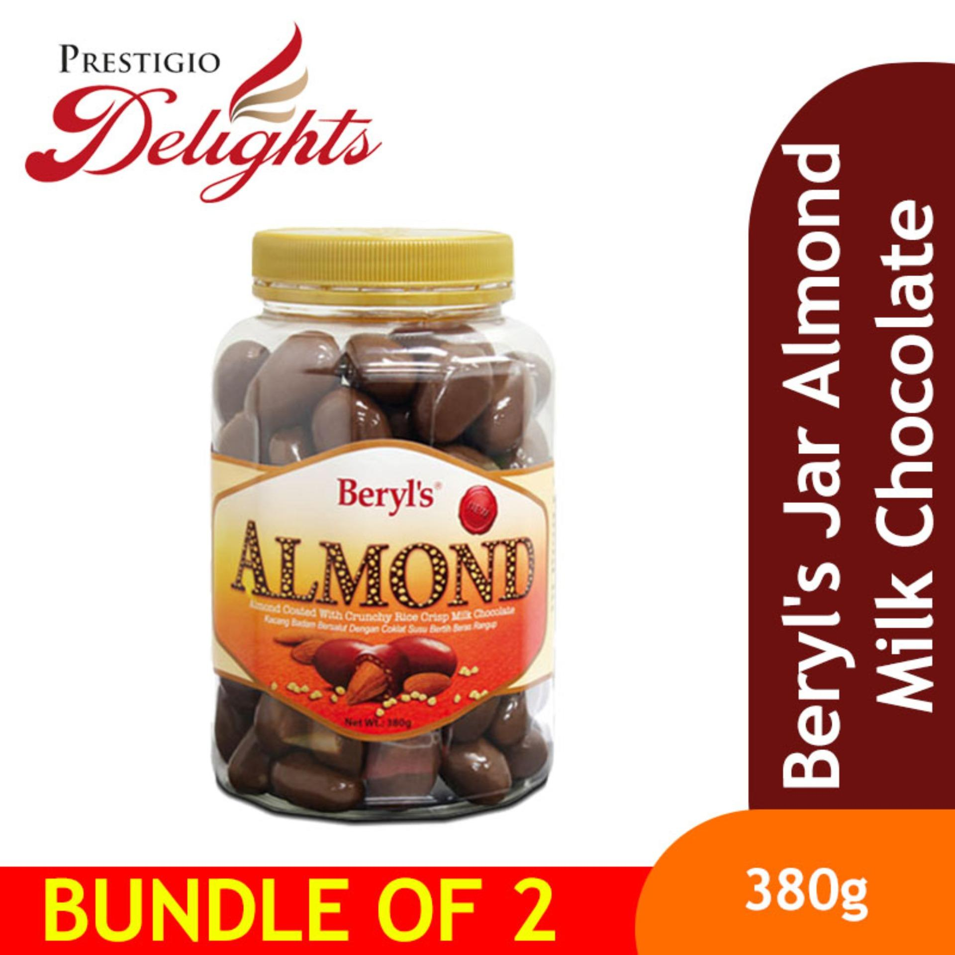 Beryls Jar Almond Milk Chocolate Bundle Of 2 By Prestigio Delights.