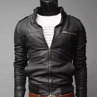 Korean Mens Motorcycle Leather Leather Jacket Mens Leather Jacket For Men - Intl By Fashion Eight.
