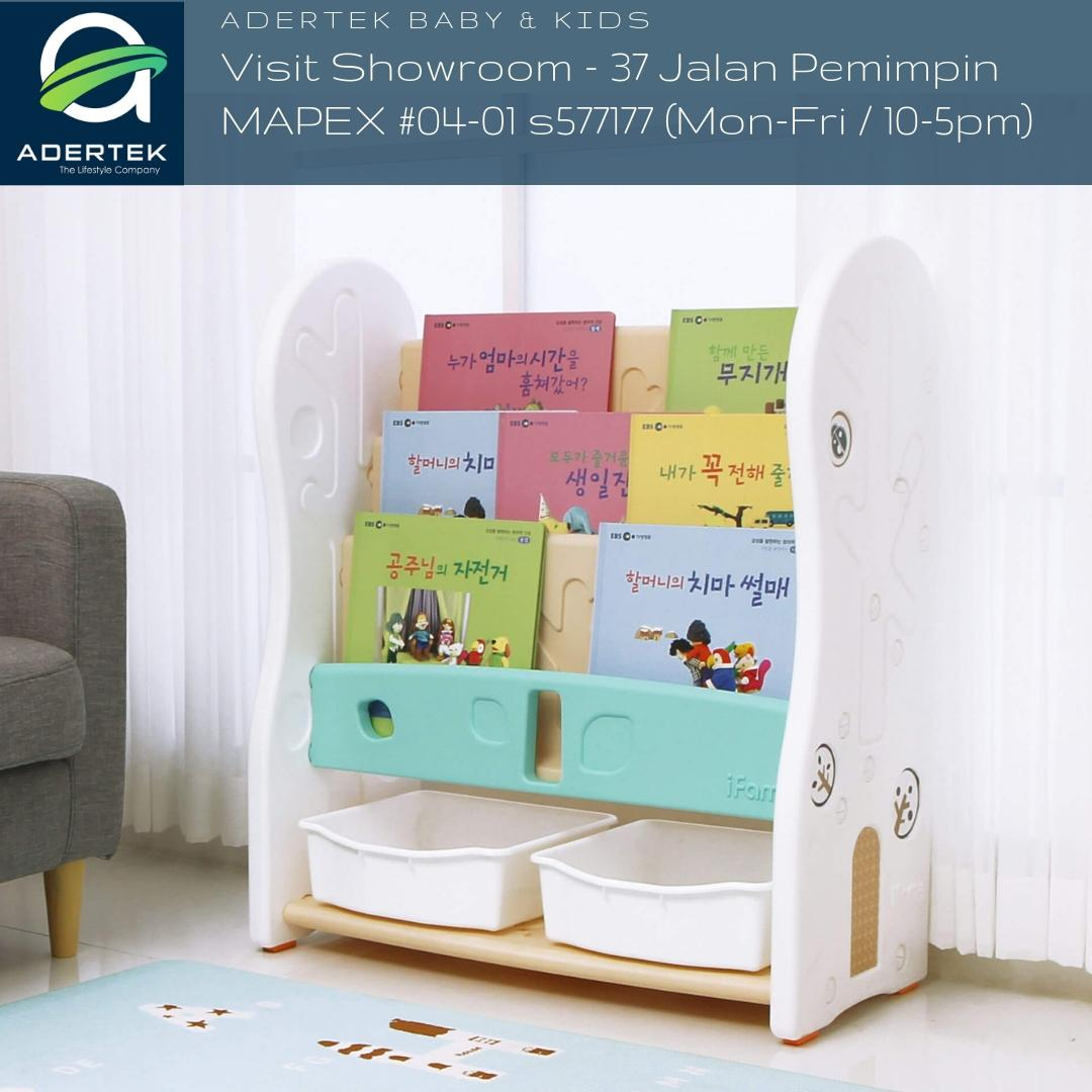 IFAM Design Open Bookshelf 3 Level 2 Toy Trays
