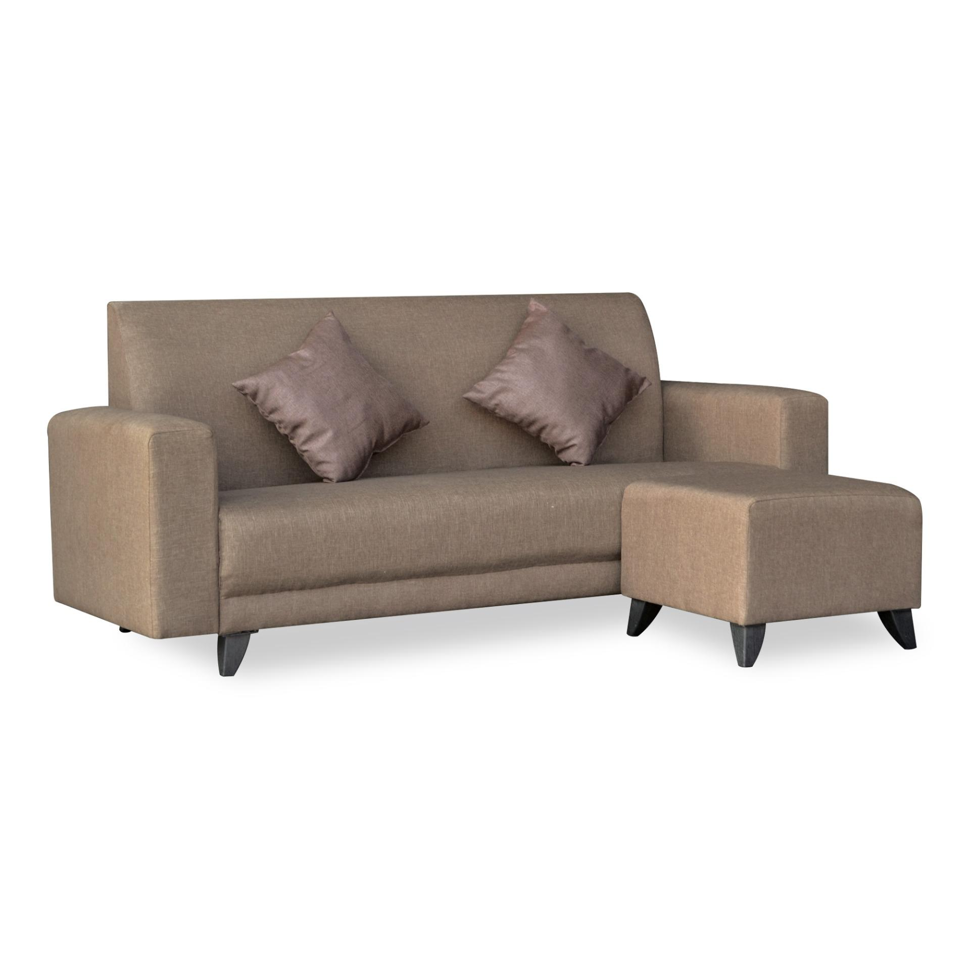 Elia 3 Seater Fabric Sofa With Stool (FREE DELIVERY)(FREE ASSEMBLY)